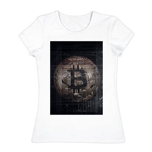 Женская футболка хлопок  Фото 01, Биткойн
