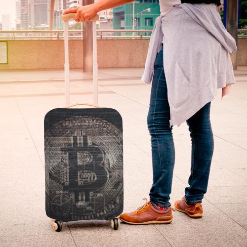 Чехол для чемодана 3D Биткойн Фото 01