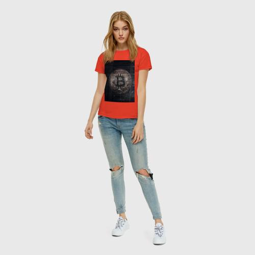 Женская футболка хлопок Биткойн Фото 01