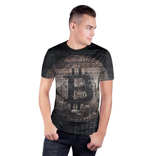 Мужская футболка 3D спортивная Биткойн Фото 01