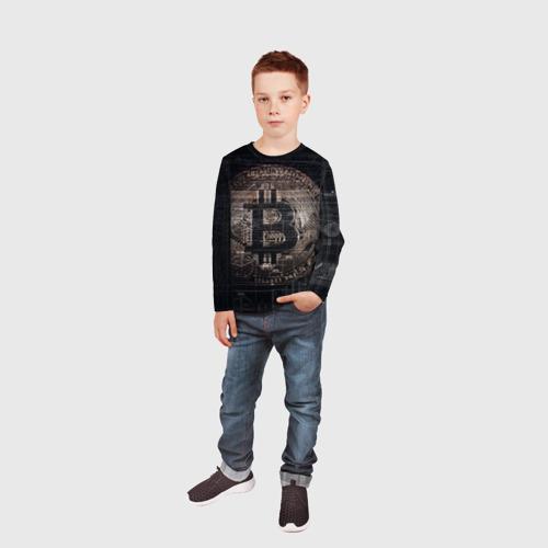 Детский лонгслив 3D Биткойн Фото 01