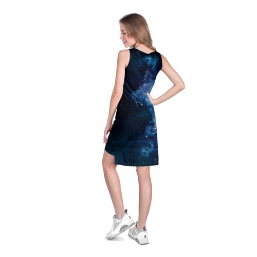 Платье-майка 3D Синий космос Фото 01
