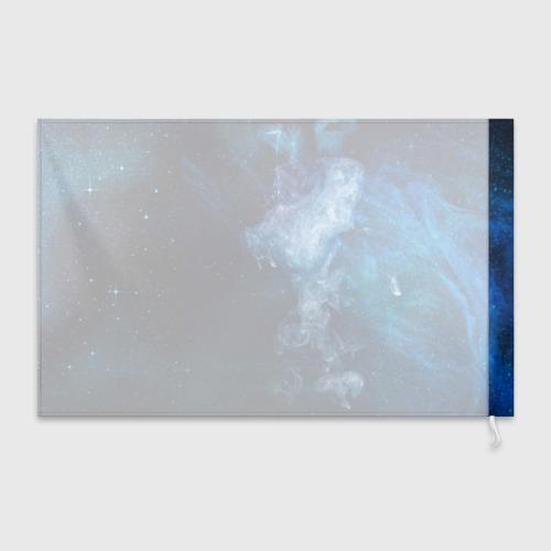 Флаг 3D Синий космос Фото 01