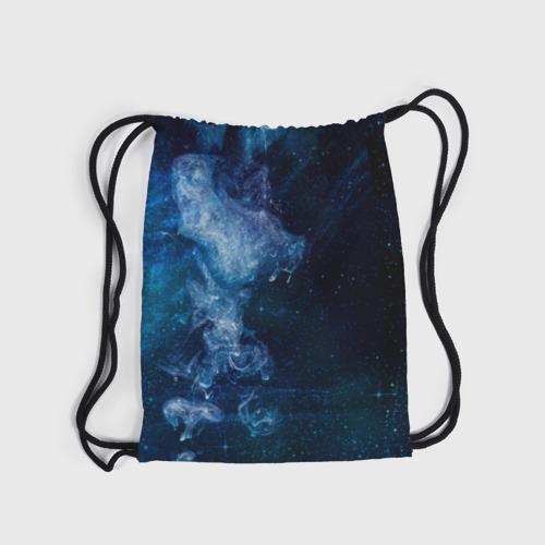 Рюкзак-мешок 3D Синий космос Фото 01