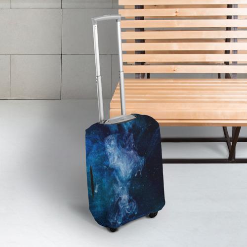 Чехол для чемодана 3D Синий космос Фото 01
