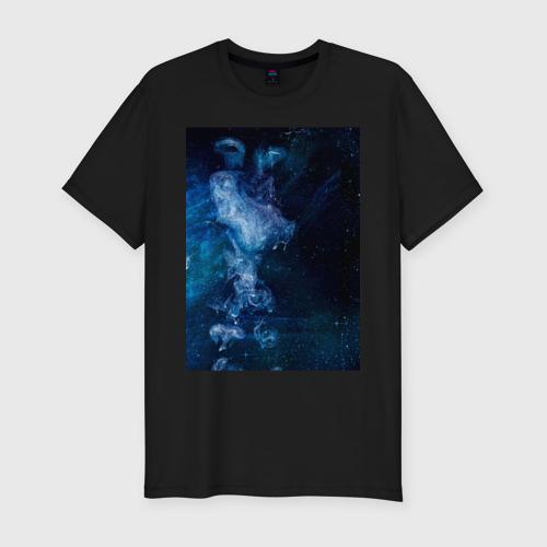 Мужская футболка премиум Синий космос Фото 01