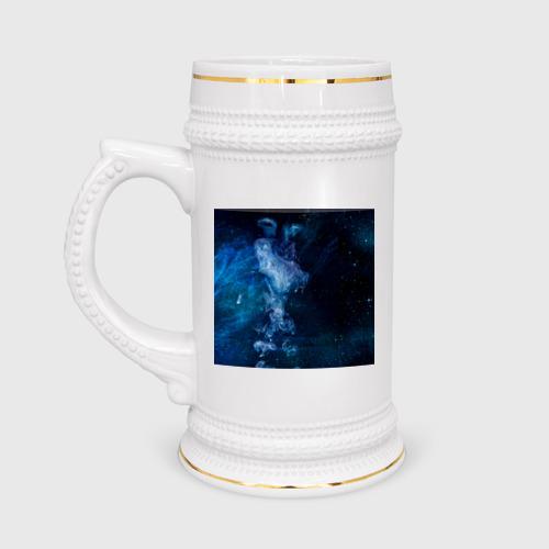 Кружка пивная Синий космос Фото 01