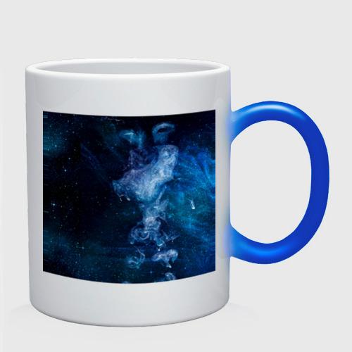 Кружка хамелеон Синий космос Фото 01