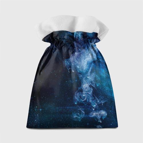 Подарочный 3D мешок Синий космос Фото 01