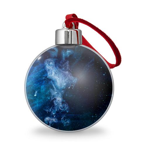 Ёлочный шар Синий космос Фото 01