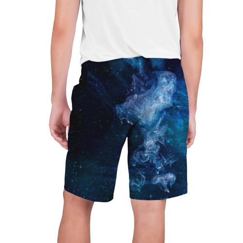 Мужские шорты 3D Синий космос Фото 01