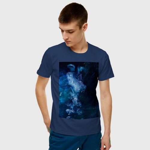 Мужская футболка хлопок Синий космос Фото 01