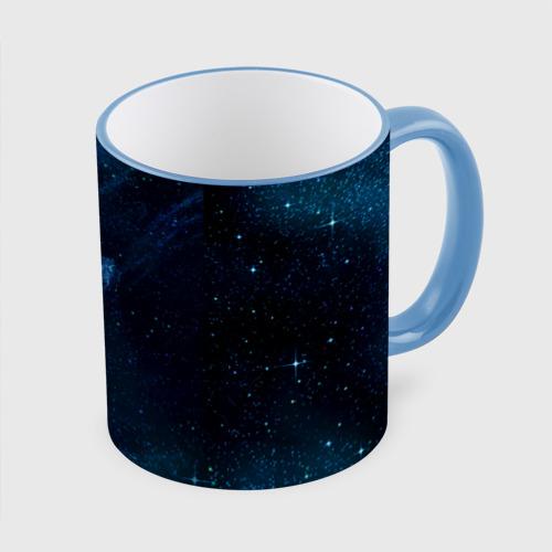 Кружка с полной запечаткой Синий космос