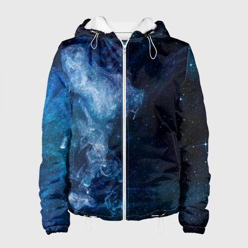 Женская куртка 3D Синий космос Фото 01