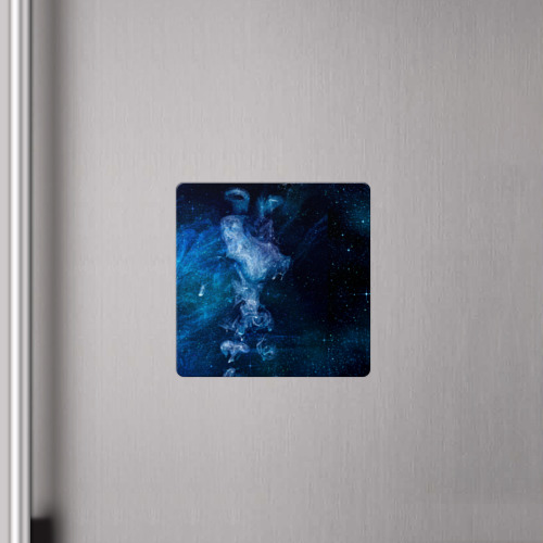 Магнит виниловый Квадрат Синий космос Фото 01