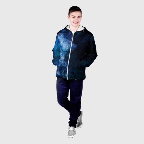 Мужская куртка 3D Синий космос Фото 01