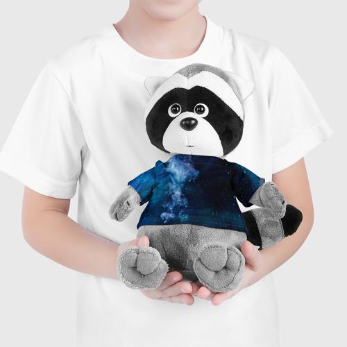 Енотик в футболке 3D Синий космос Фото 01