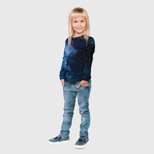 Детский лонгслив 3D Синий космос Фото 01