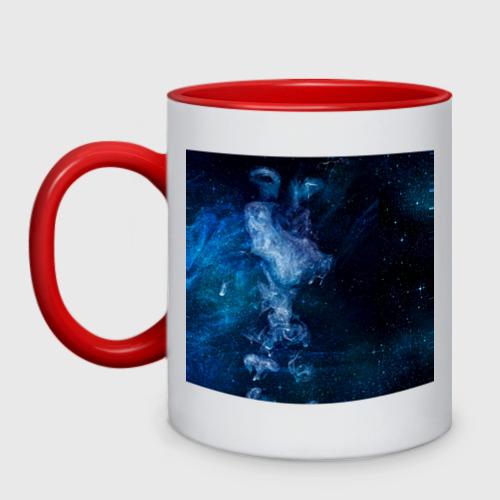Кружка двухцветная Синий космос