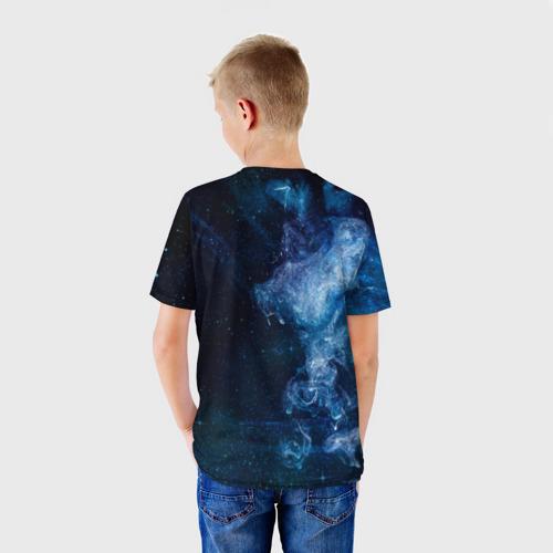 Детская футболка 3D Синий космос Фото 01