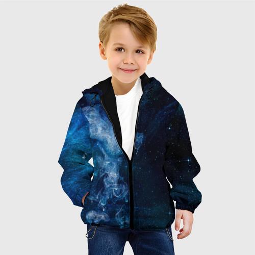 Детская куртка 3D Синий космос Фото 01