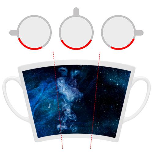 Кружка Латте Синий космос Фото 01
