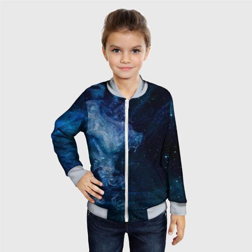 Детский бомбер 3D Синий космос Фото 01