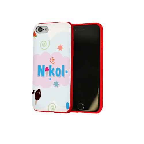 Чехол для Apple iPhone 8 силиконовый глянцевый Nikol Ice cream Фото 01