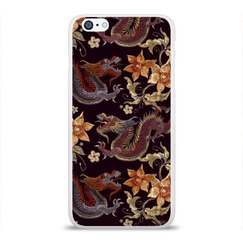 Чехол для Apple iPhone 6Plus/6SPlus силиконовый глянцевый Японские драконы Фото 01