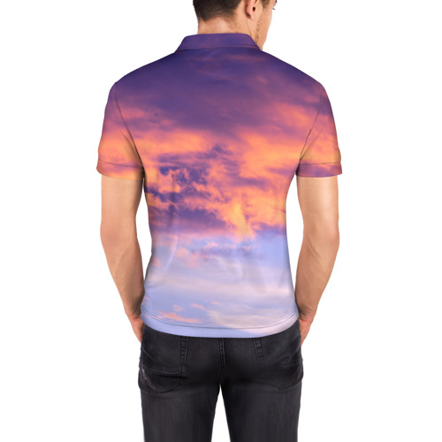 Мужская рубашка поло 3D  Фото 04, В небе