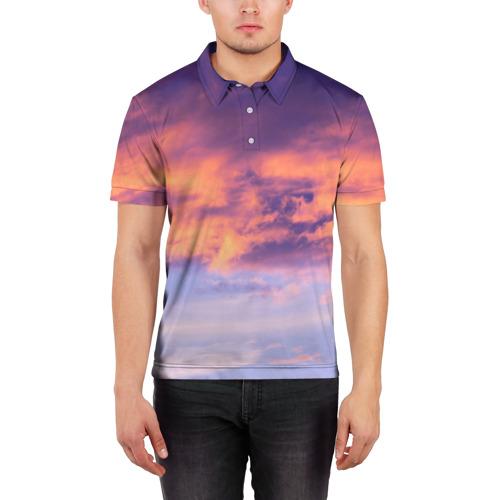Мужская рубашка поло 3D  Фото 03, В небе