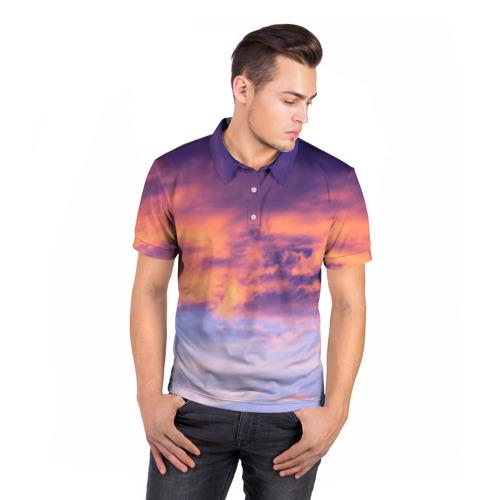 Мужская рубашка поло 3D  Фото 05, В небе