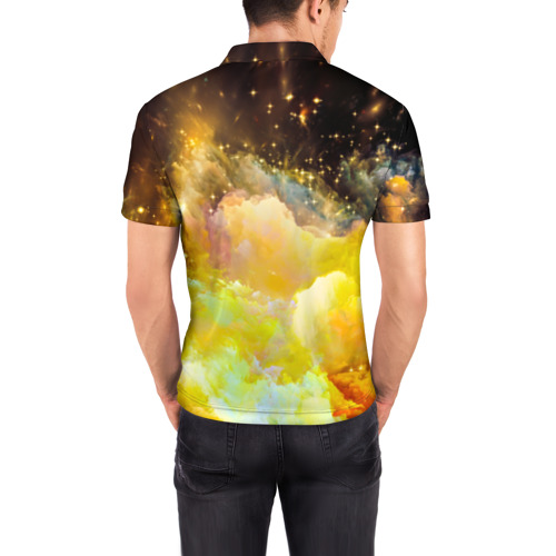 Мужская рубашка поло 3D  Фото 04, Желтая краска