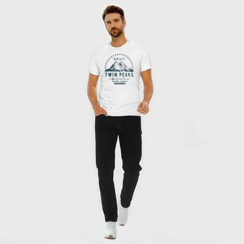 Мужская футболка хлопок Slim Твин Пикс Фото 01