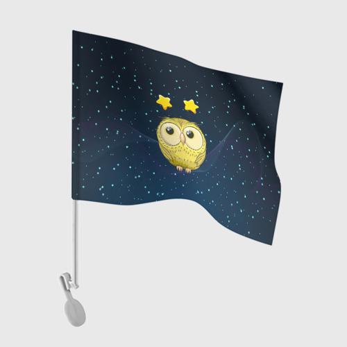Флаг для автомобиля Сова со звездочками One фото