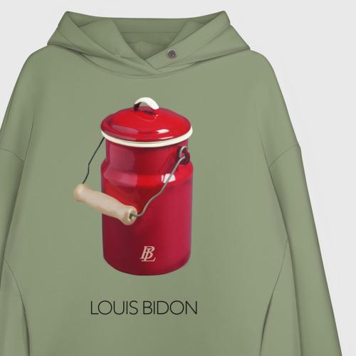 Женское худи Oversize хлопок Louis Bidon Фото 01