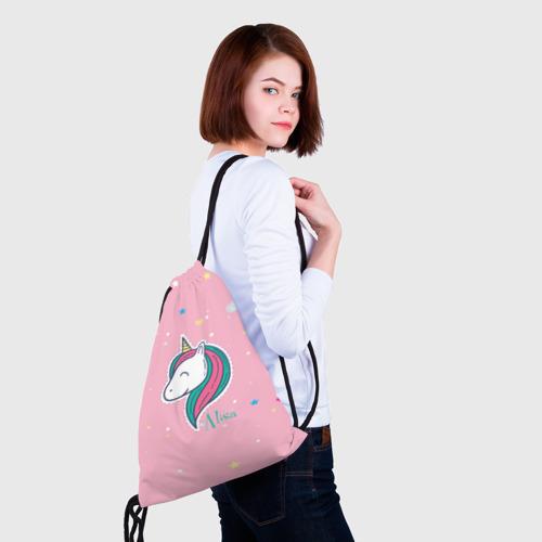 Рюкзак-мешок 3D Алиса - единорожка Фото 01
