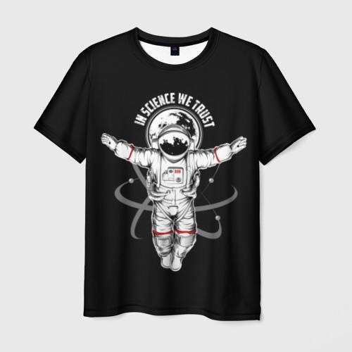 Мужская футболка 3D In science we trust