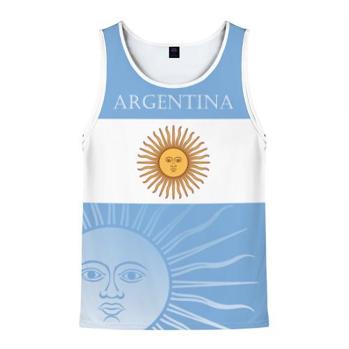 Мужская майка 3D Аргентина
