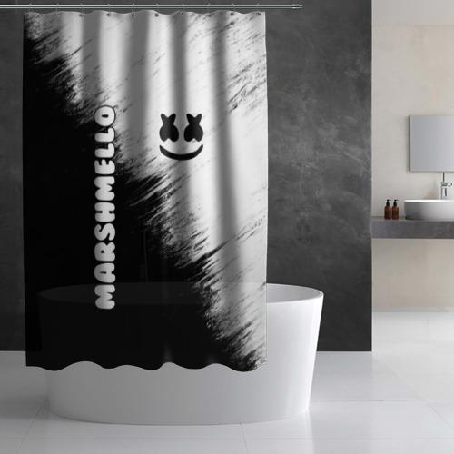 Штора 3D для ванной Marshmello 3 Фото 01