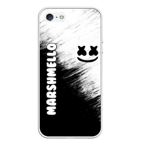 Чехол для iPhone 5/5S матовый Marshmello 3 Фото 01