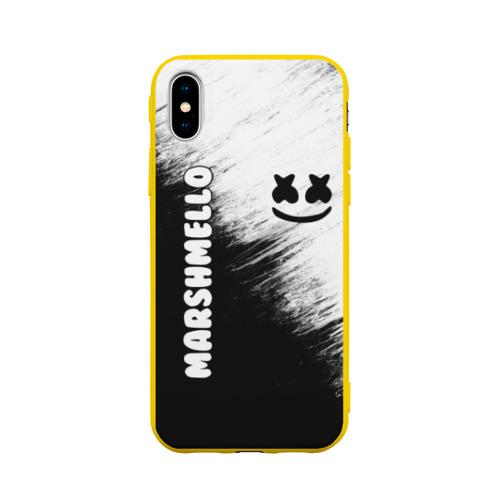 Чехол для iPhone X матовый Marshmello 3 Фото 01