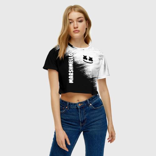 Женская футболка Crop-top 3D Marshmello 3 Фото 01