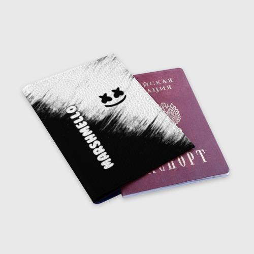 Обложка для паспорта матовая кожа Marshmello 3 Фото 01
