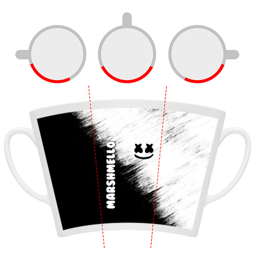 Кружка Латте Marshmello 3 Фото 01