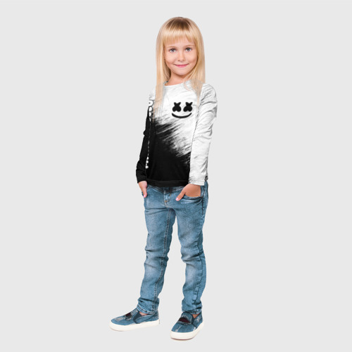 Детский лонгслив 3D Marshmello 3 Фото 01