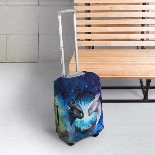 Чехол для чемодана 3D ночная фурия Фото 01