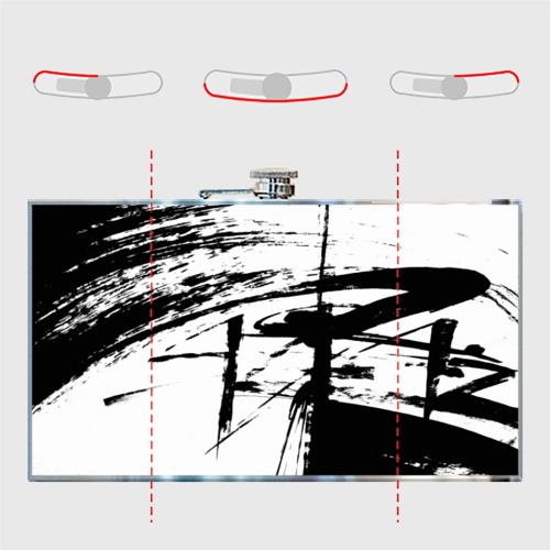 Фляга Черно-белая футболка Фото 01