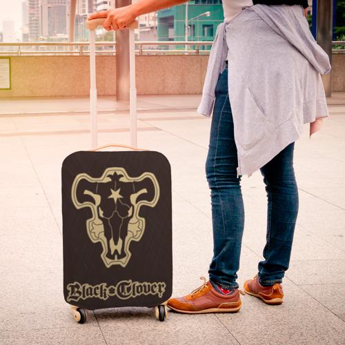 Чехол для чемодана 3D Черный Клевер (Черный Бык) 1 Фото 01