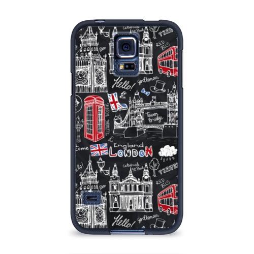 Чехол для Samsung Galaxy S5 силиконовый  Фото 01, Лондон